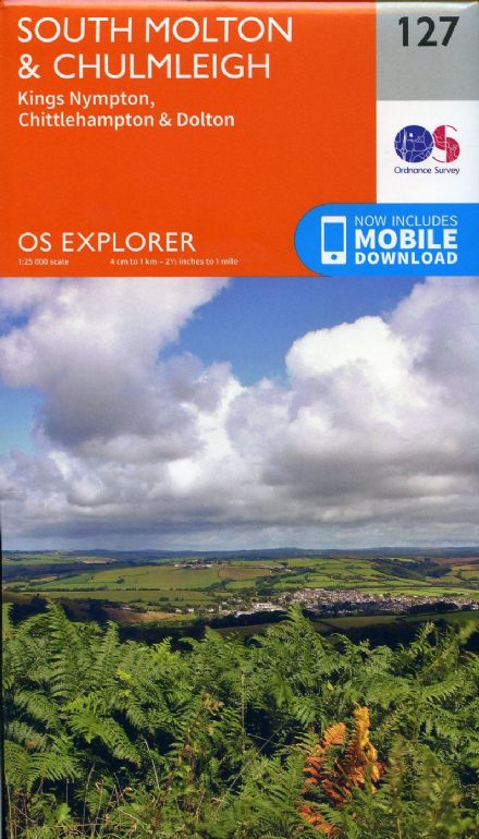 OS Explorer 127 - South Molton & Chulmleigh, King Nympton, Chittlehampton & Dolton